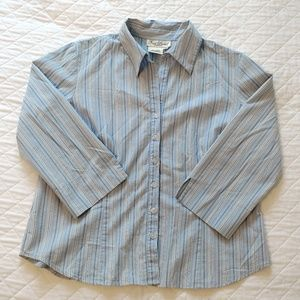 Pinstripe blue button-down